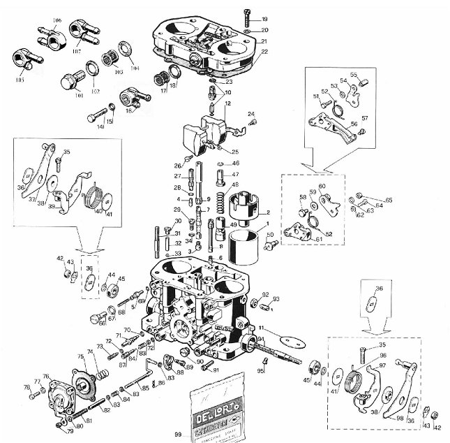 parts for dellorto 34 36 40 45 48 50 drla carburetors